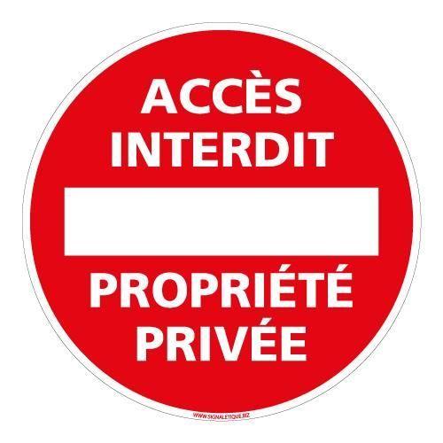 Panneau Propriete Privee Defense D Entrer - Achat / Vente dedans Panneau Chemin Privé
