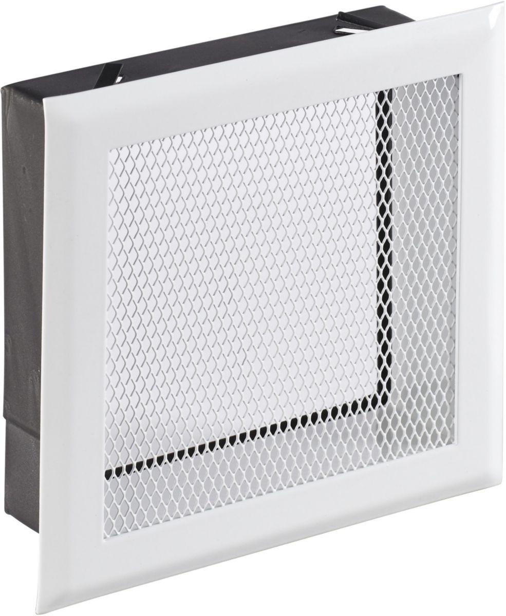 Poujoulat - Habillage Pour Grille De Ventilation Inox-Inox serapportantà Grille Ventilation Cheminée