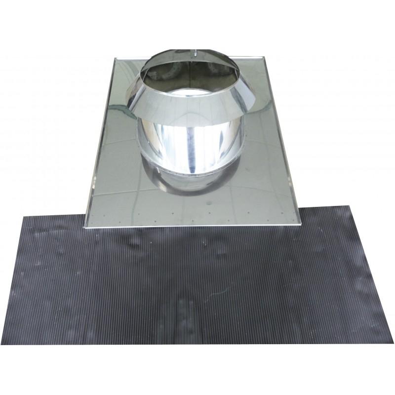 Solin Tuile +Larmier 0-15° Dp D180Mm - Ersho Distribution avec Solin Cheminée
