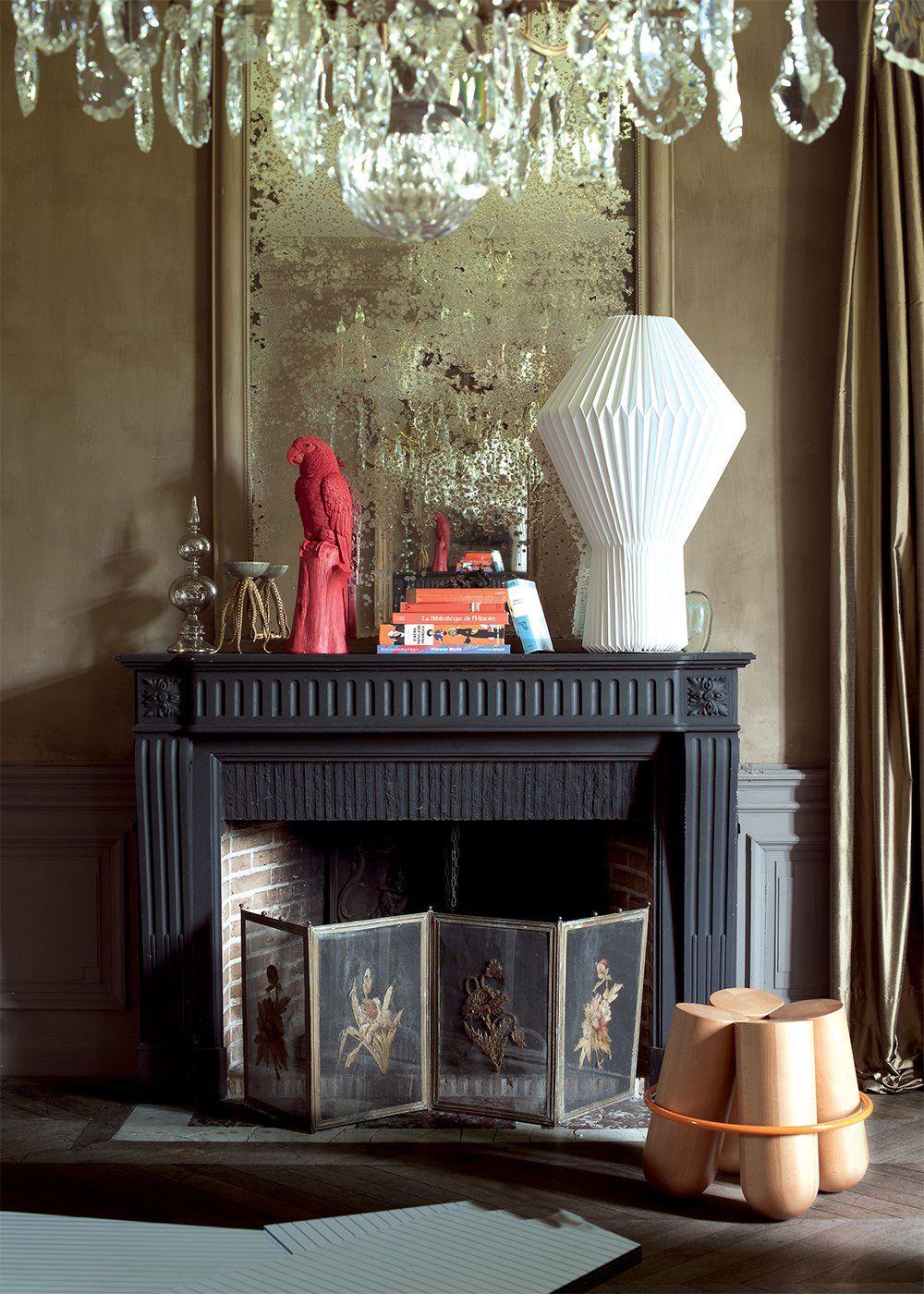 """Une Maison Normande Au Style """"Barock'N Roll"""" (Avec Images dedans Fausse Cheminée Maison Du Monde"""