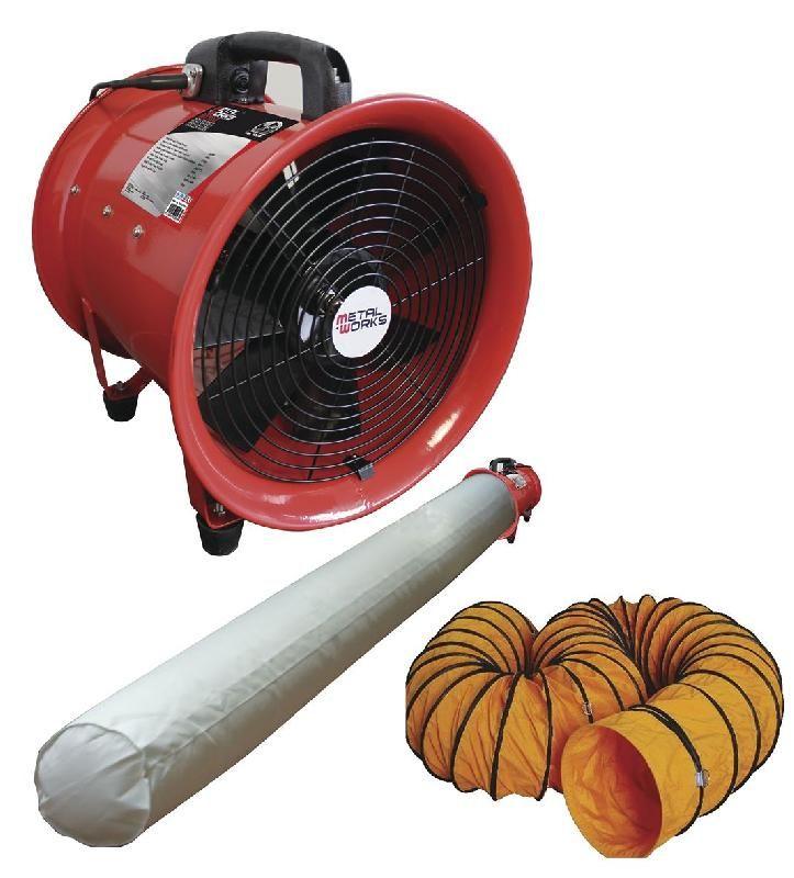 Ventilateur Extracteur 300 Mm - 500 W Avec Tuyau Et Sac destiné Ventilateur Air Chaud Cheminée