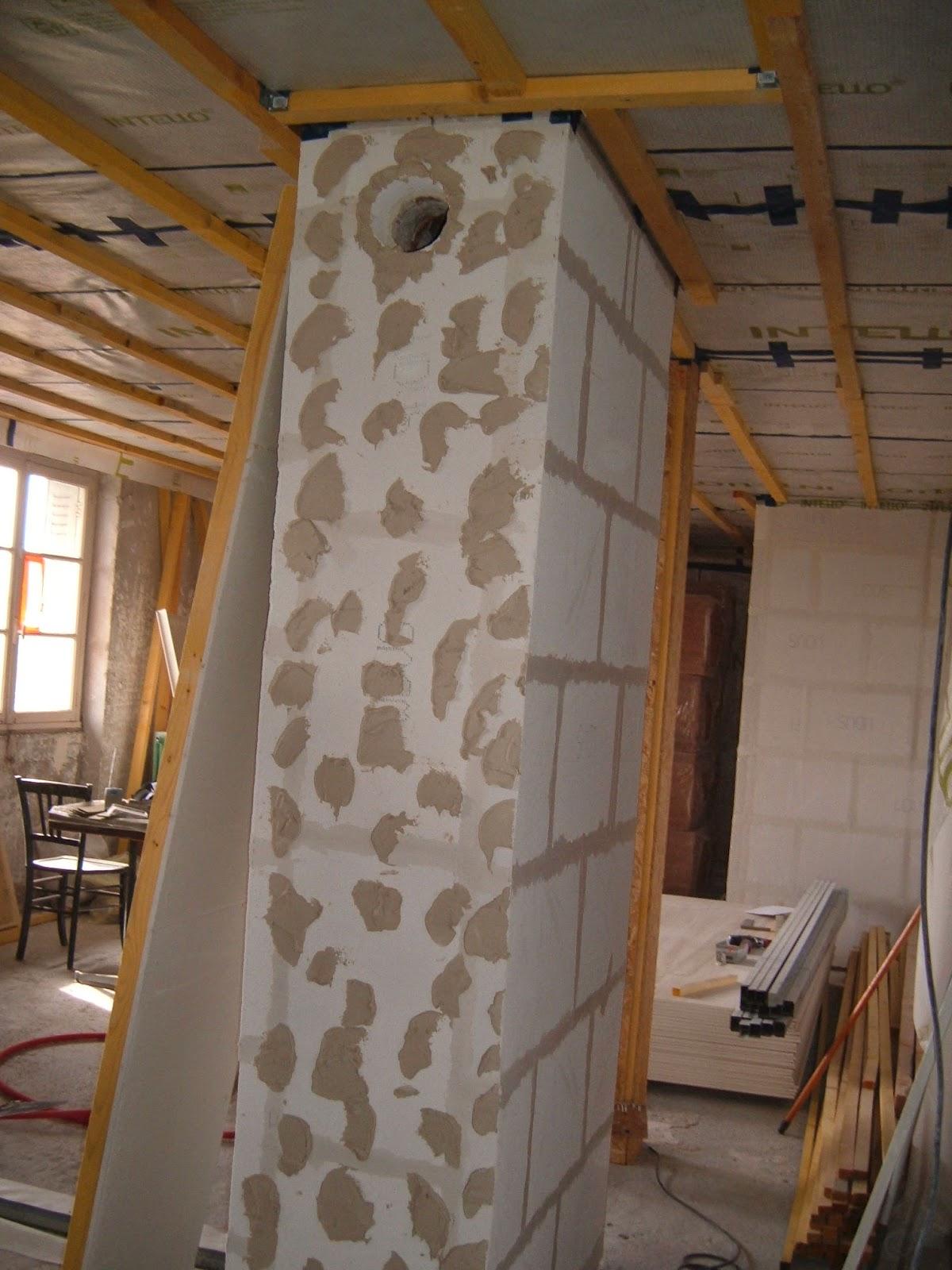 Vers Une Rénovation Passive D'Un Appartement: Finition Des tout Distance Conduit Cheminée Placo