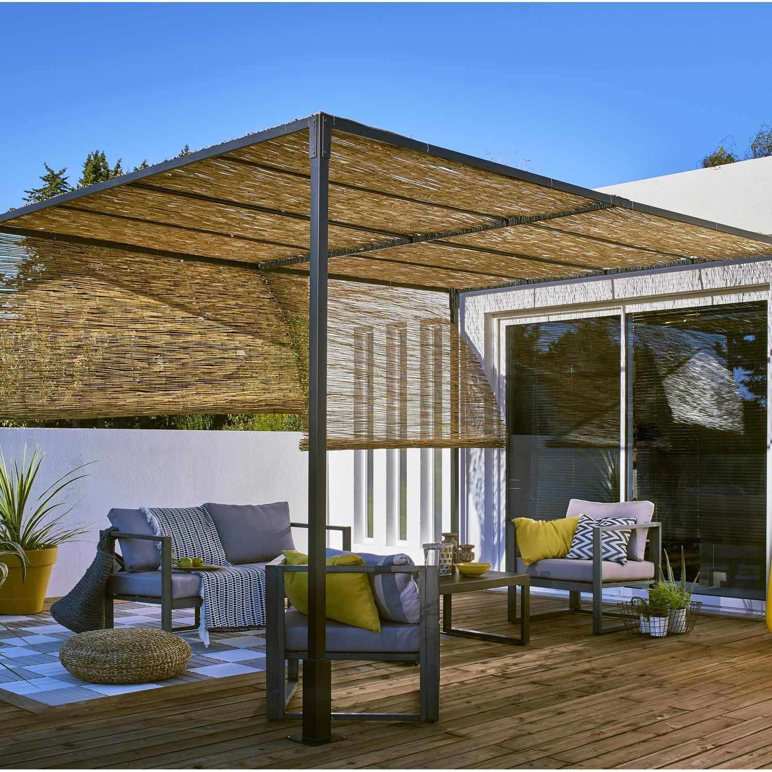 Arbor, Pergola And Terrace Roof Leroy Merlin, Free-Standing tout Pergola Leroy Merlin