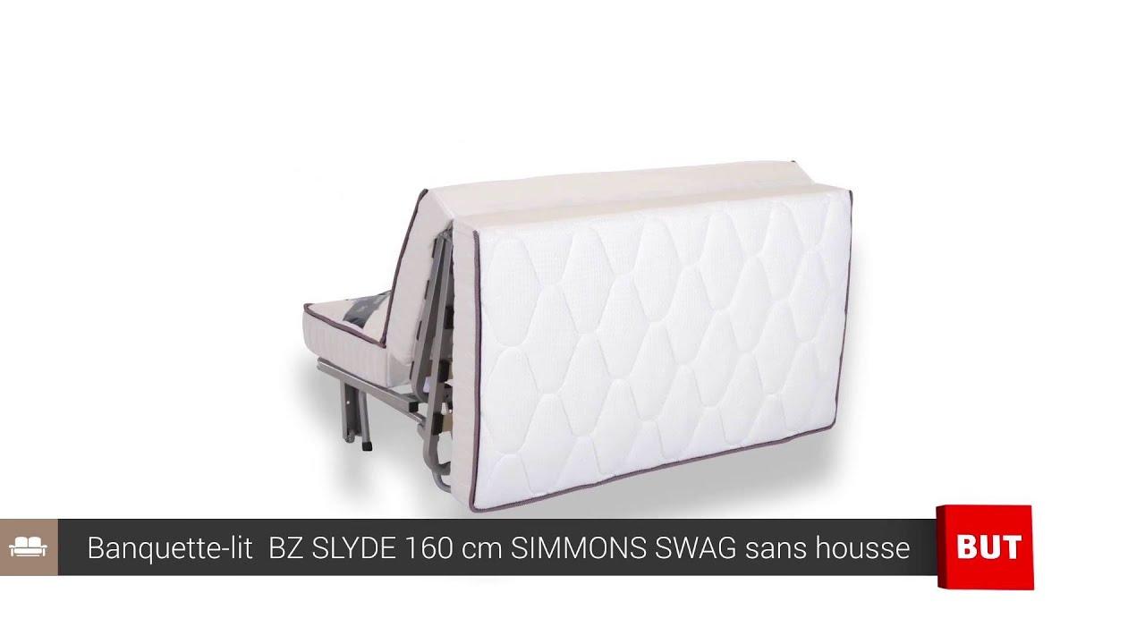 Banquette-Lit Bz Slyde 160 Cm Simmons Swag Sans Housse - But concernant Montage Bz Conforama