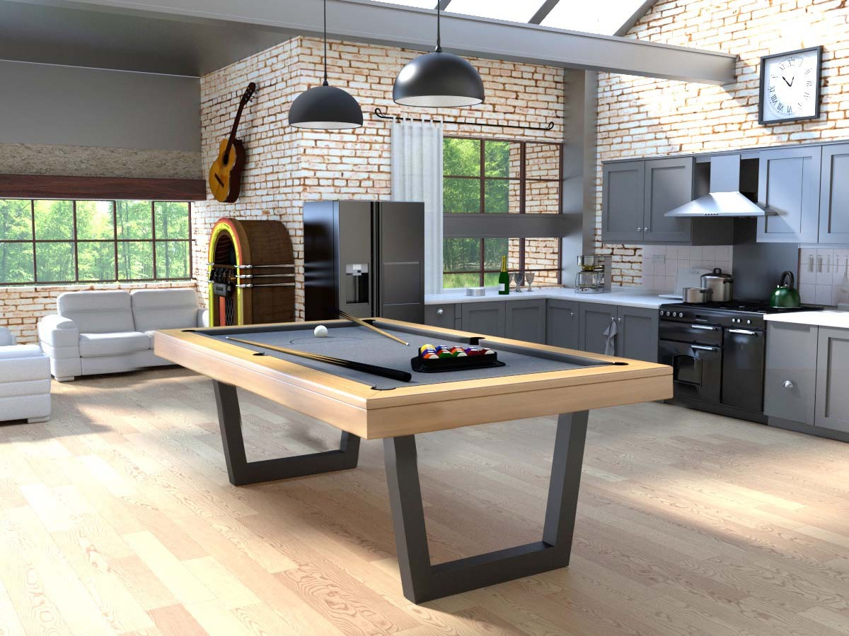 Billard Harmony-V Inox - Transformable En Table - Eurobillards avec Billard Table À Manger Avec Rallonge