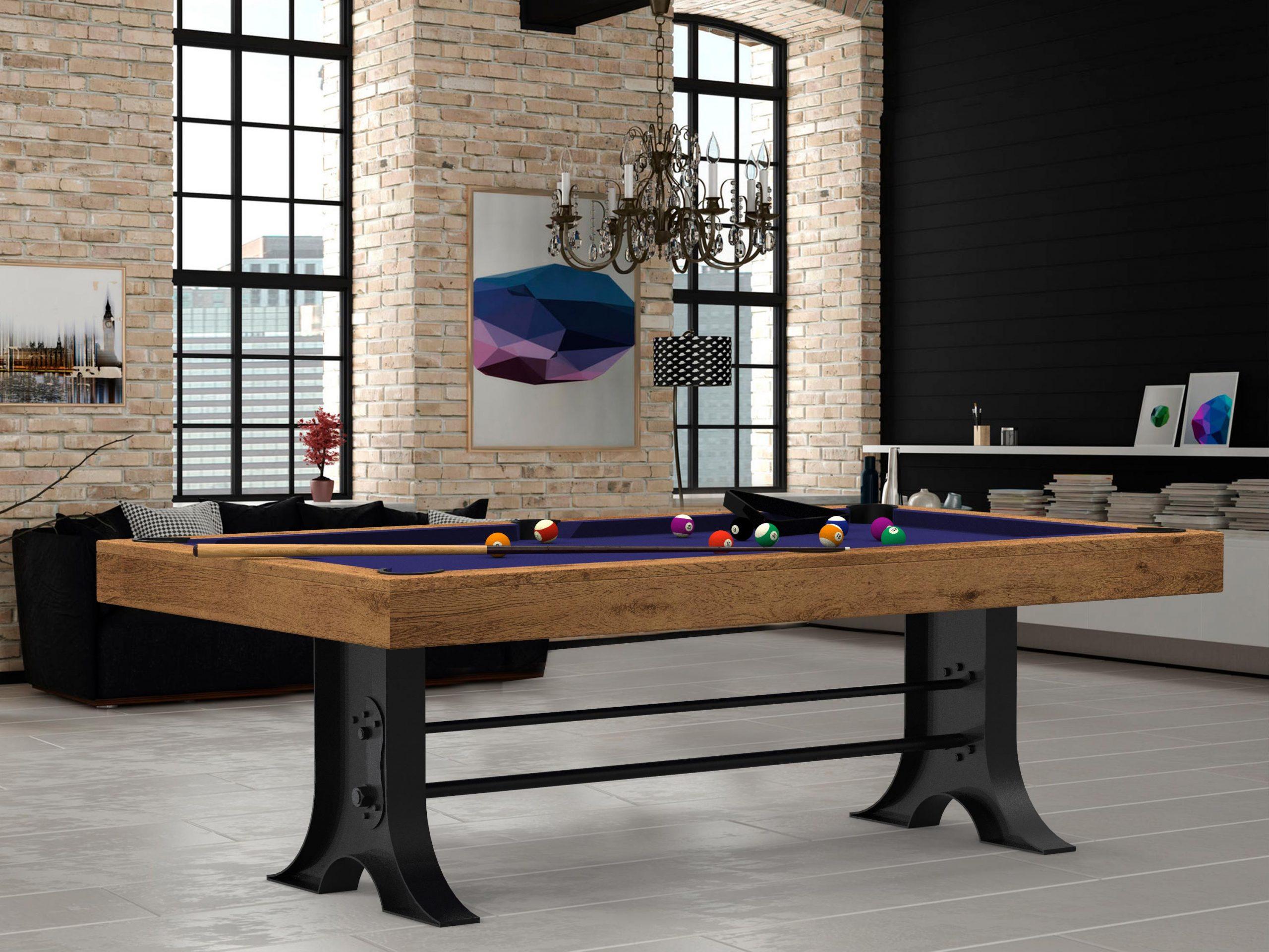 Billard Style Atelier Industry - Transformable En Table pour Billard Table À Manger Avec Rallonge
