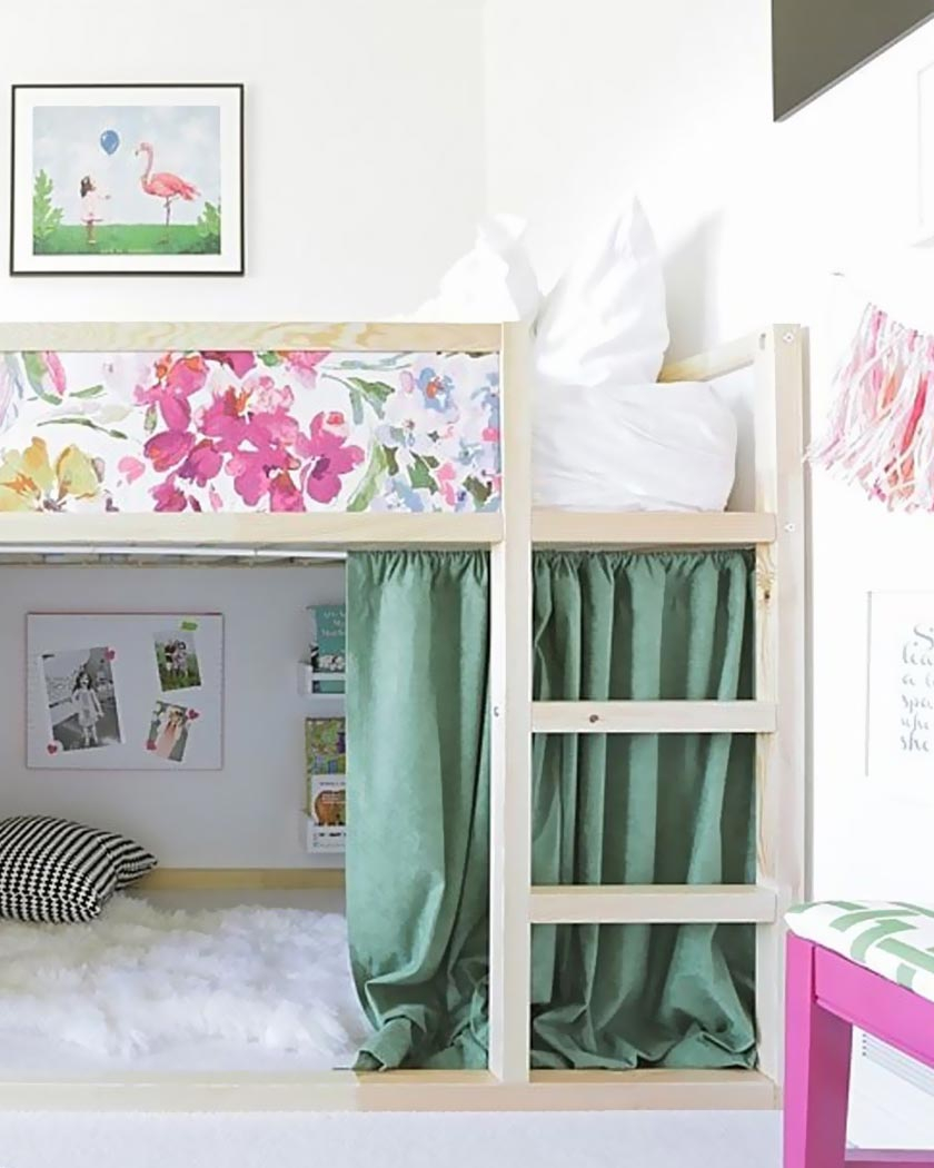 Blog #Évolutif #Hack #Ikea #Kura #Lit #Personnaliser avec Rideaux Chambre Bébé Ikea