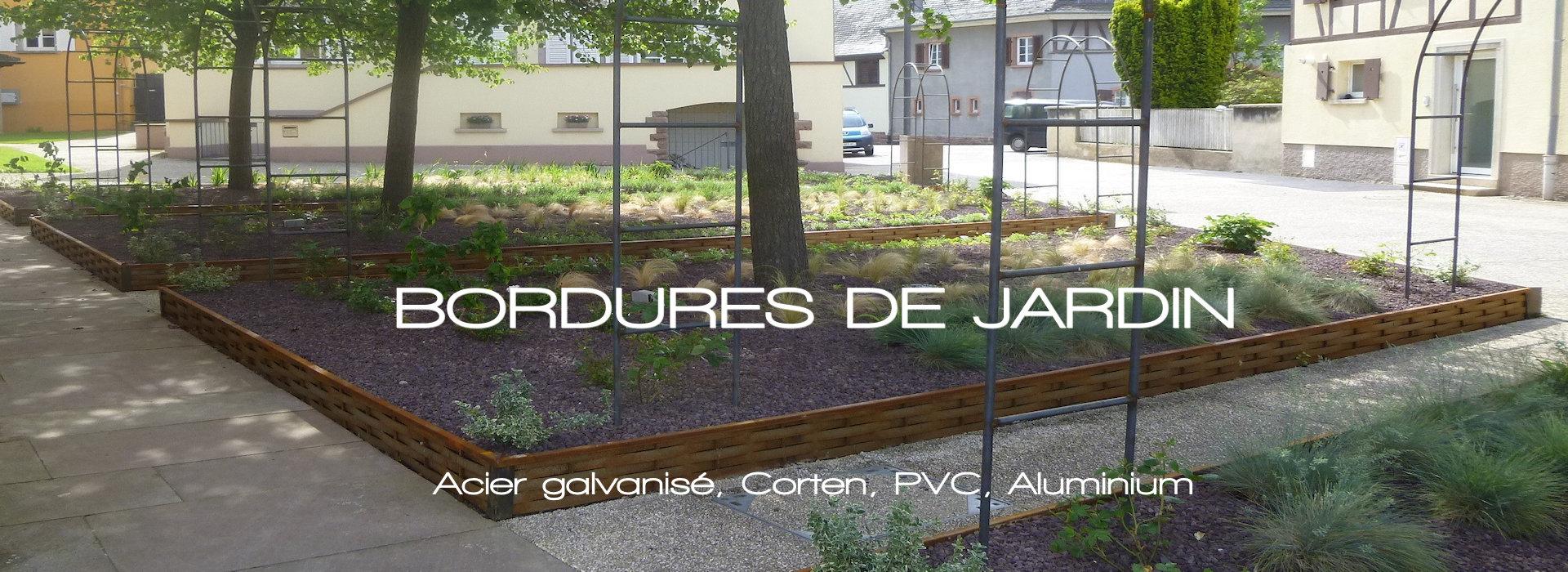 Bordure De Jardin Et Aménagement Du Jardin, Bordure Alu avec Bordure Jardin Acier Corten Jardiland
