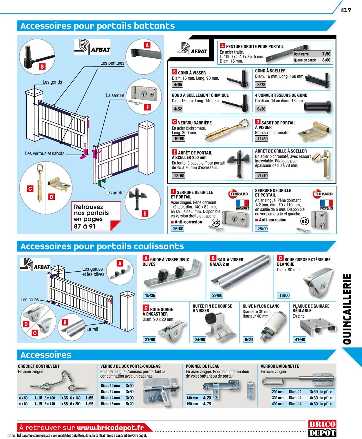 Brico Dépôt Catalogue Actuel 27.03 - 29.05.2020 [417 concernant Roue Pour Portail Coulissant Brico Depot