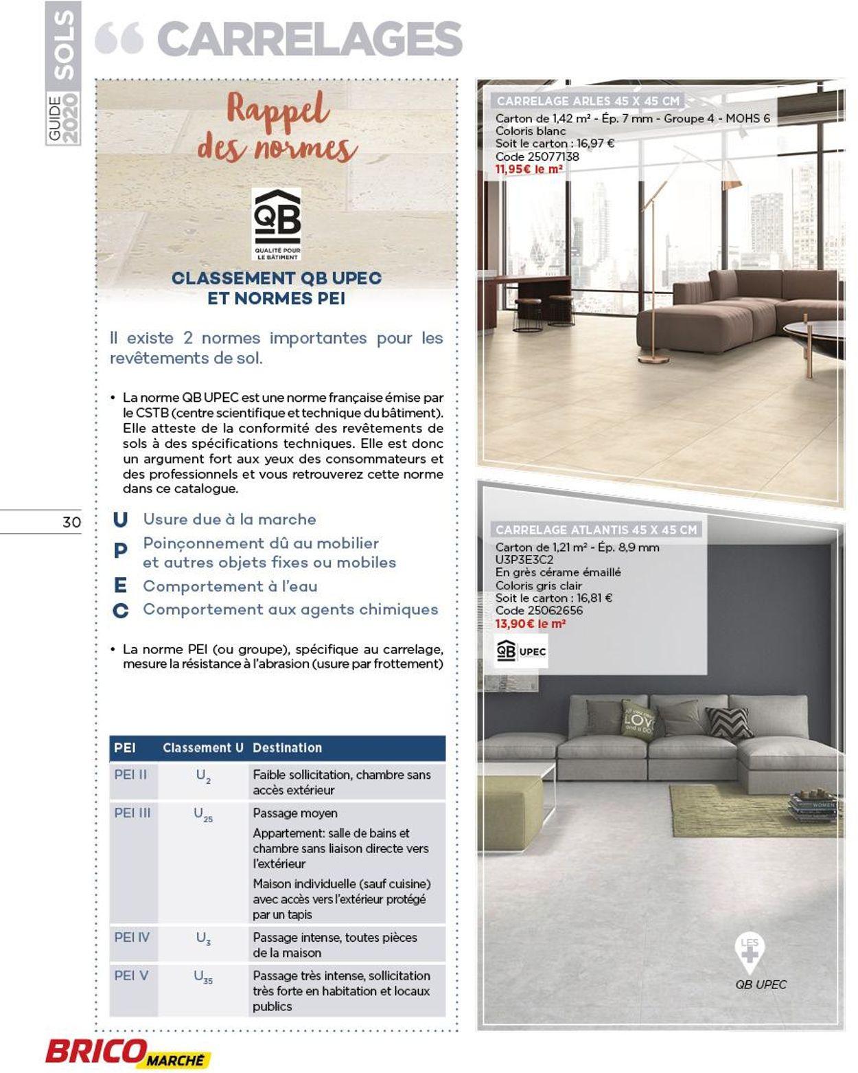 Bricomarché Catalogue Actuel 14.09 - 04.10.2020 [30 pour Bricomarché Carrelage Extérieur