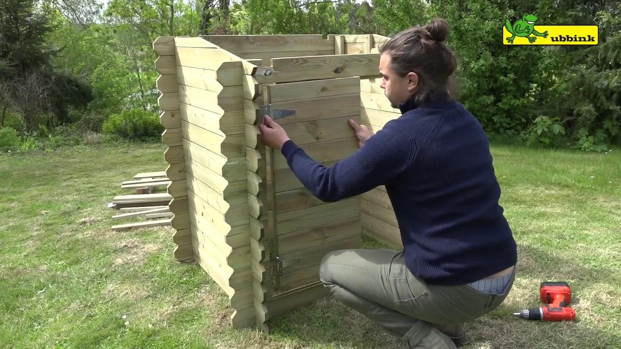 Coffre De Filtration En Bois Ubbink : Vidéo Montage concernant Abris Pompe Piscine