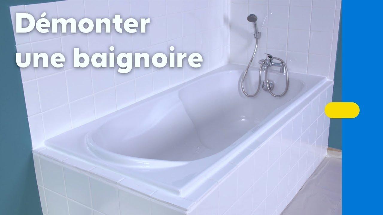 Comment Démonter Une Baignoire ? (Castorama) dedans Kit Remplacement Baignoire Castorama