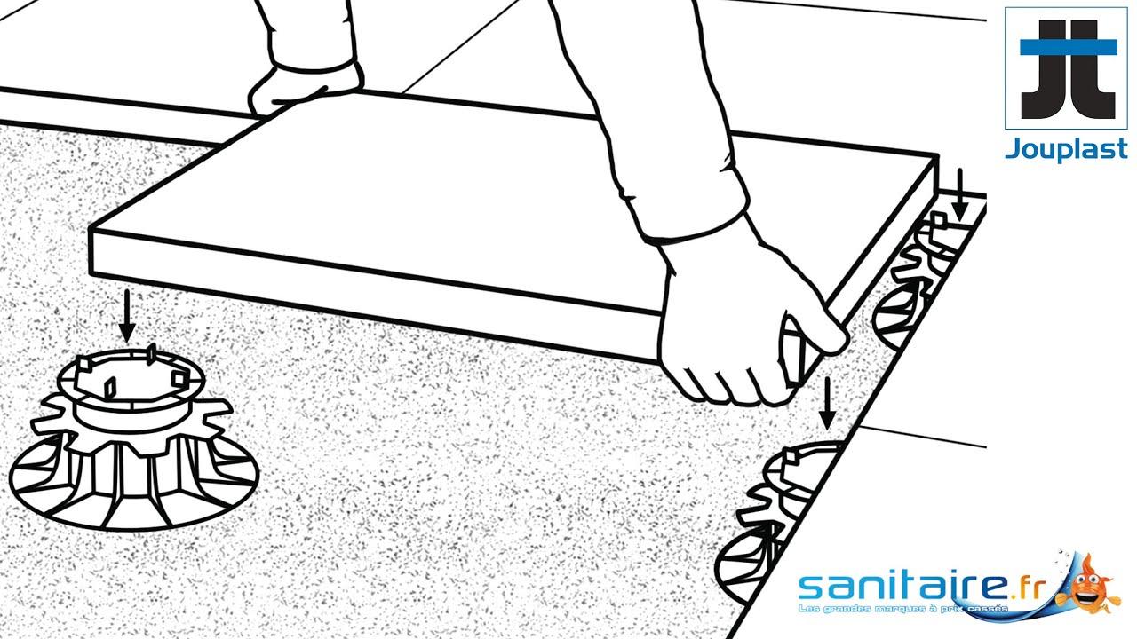 Comment Poser Une Terrasse Sur Plots ? encequiconcerne Plot Autonivelant Castorama