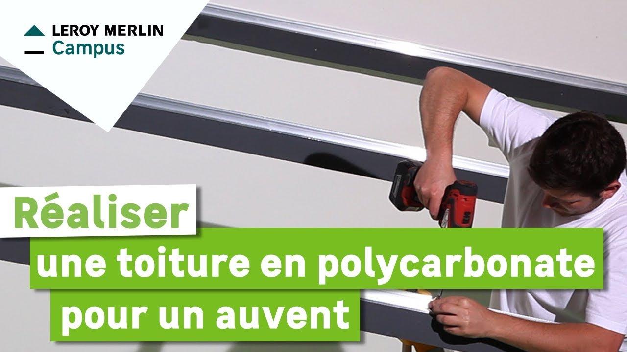 Comment Réaliser Une Toiture En Polycarbonate Pour Un Auvent ? Leroy Merlin concernant Plaque Pvc Transparent Brico