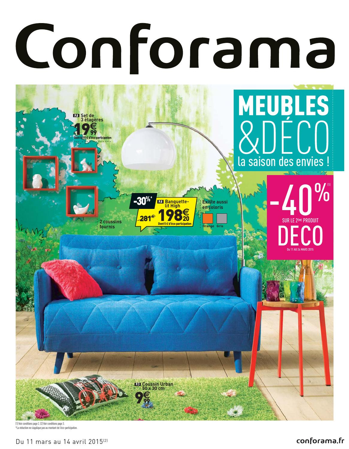 Conforama Catalogue 11Mars 14Avril2015 By Promocatalogues tout Montage Bz Conforama