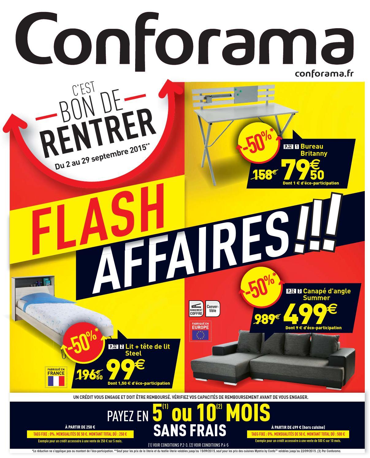 Conforama Catalogue 2 29Septembre2015 By Promocatalogues intérieur Meuble Tv Avec Enceinte Integre Conforama