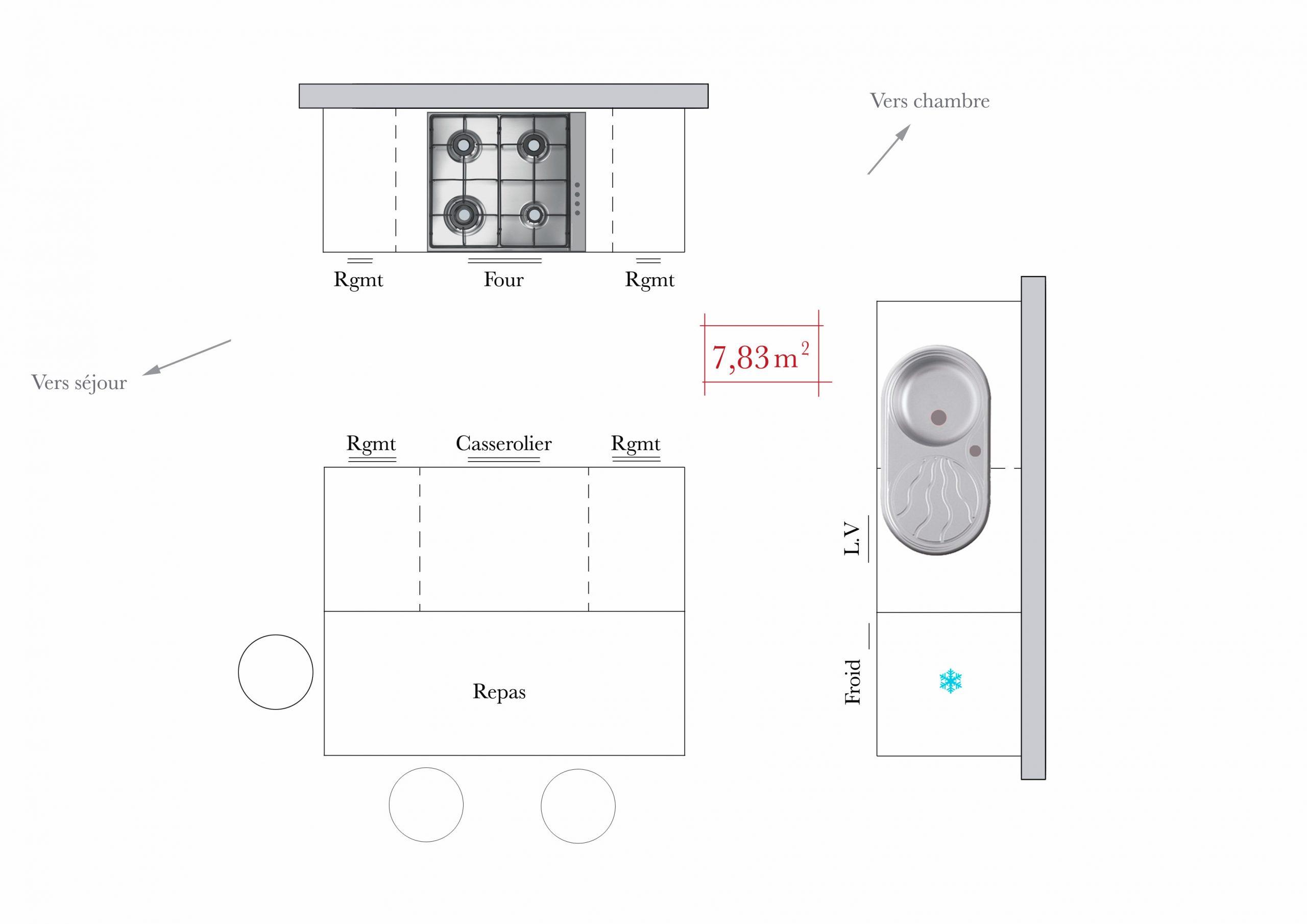 Conseils D'Architecte : 4 Plans De Cuisine En Îlot - M6 Deco.fr tout Distance Entre Plan De Travail Et Meuble Haut