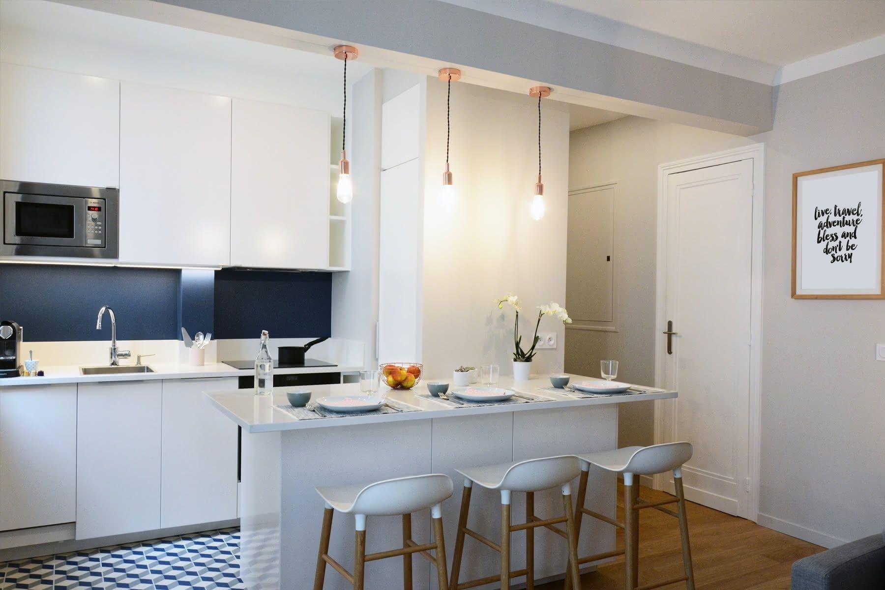 Cuisine Ouverte Sur Salon 30M2 In 2020 | Open Kitchen And tout Cuisine Salon 30M2