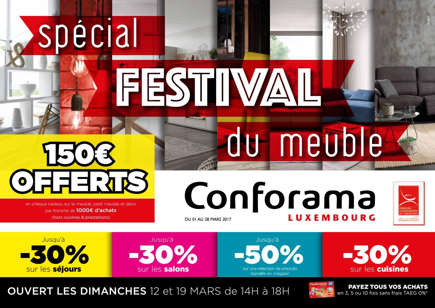 Doc 19 : Spécial Festival Du Meuble By Conforama Luxembourg tout Meuble Tv Avec Enceinte Integre Conforama