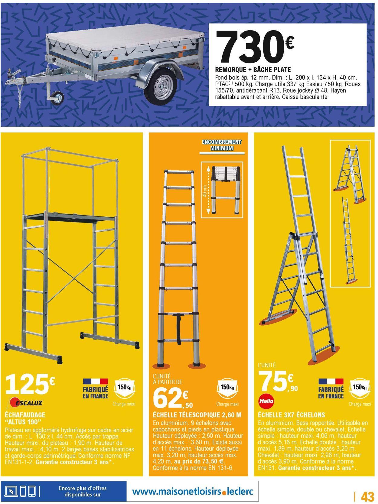 E.leclerc Catalogue Actuel 31.03 - 11.04.2020 [43 destiné Échafaudage Brico Leclerc