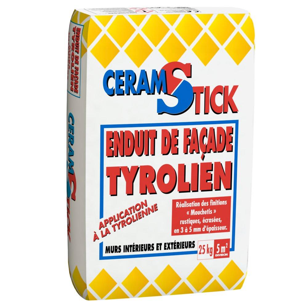 Enduit De Facade Tyrolien Blanc Casse 25Kg à Bricomarché Carrelage Extérieur