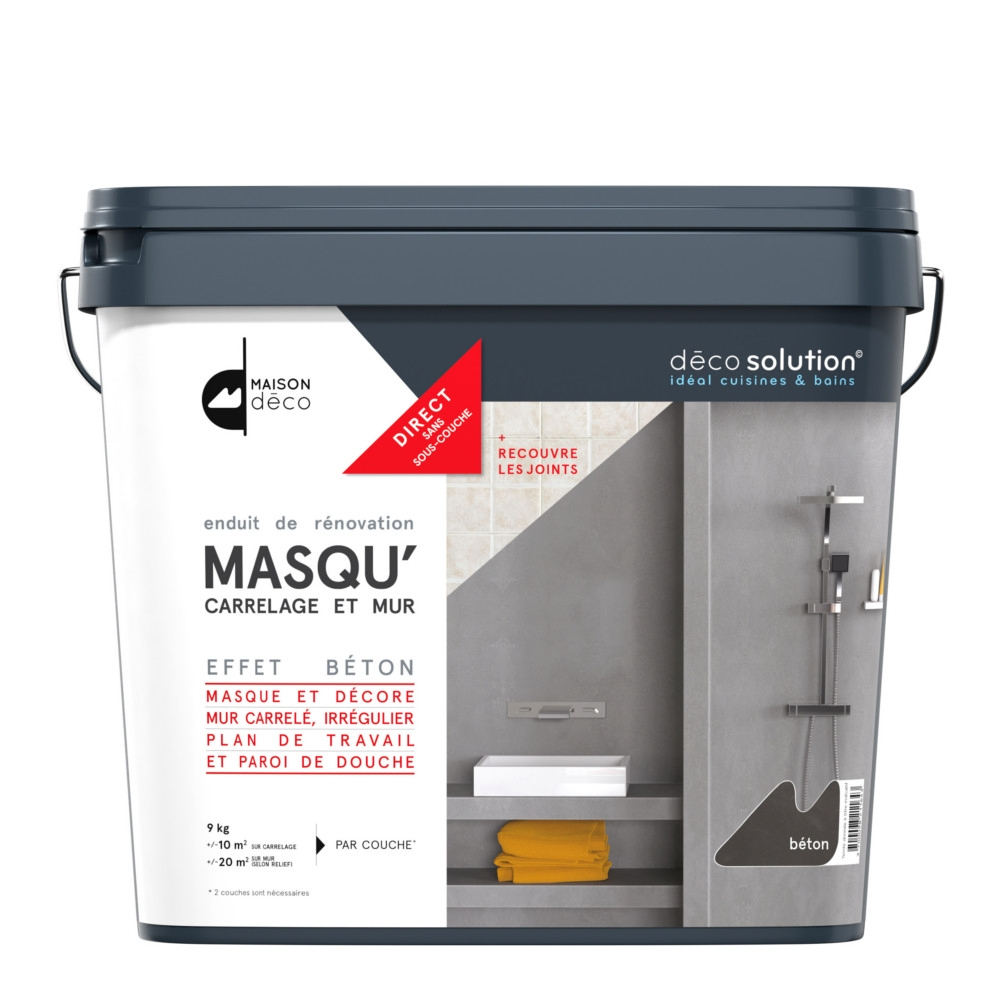 Enduit Maison Deco Masqu' Carrelages Et Murs 9Kg Lave avec Bricorama Deco