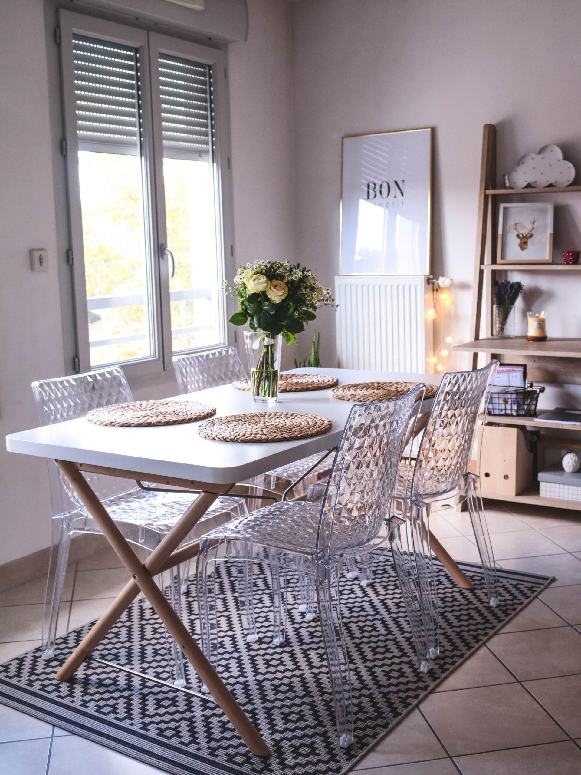 Épinglé Sur My Home - Decoration pour Chaises Transparentes Castorama