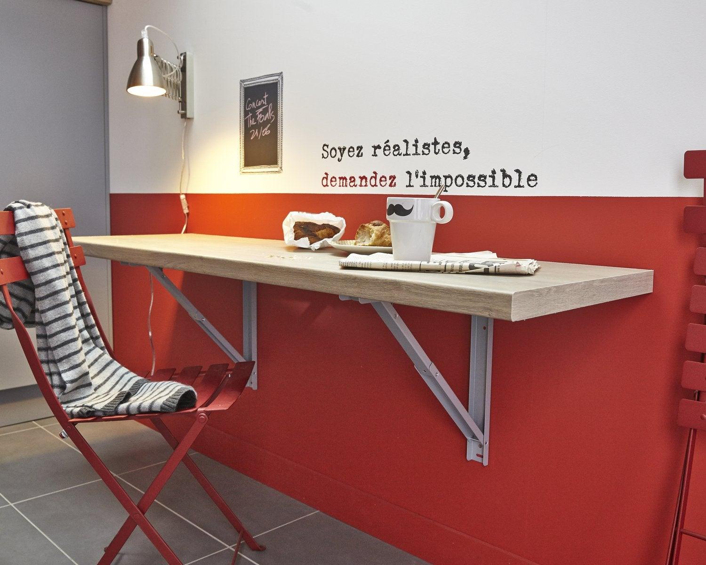 Gagner De L'Espace Avec Cette Table Rabattable | Leroy Merlin intérieur Pied Pliant Pour Table Leroy Merlin