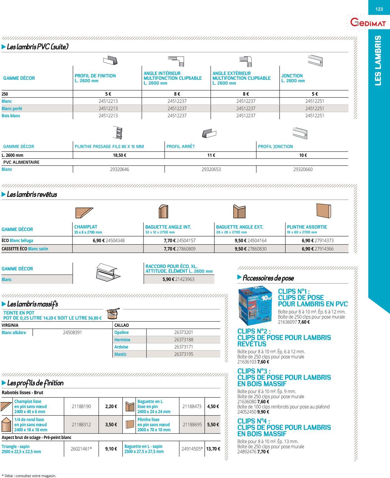 Gedimat Catalogue Actuel 18.03 - 31.12.2020 [123 serapportantà Champlat Pvc Blanc Brico Dépôt