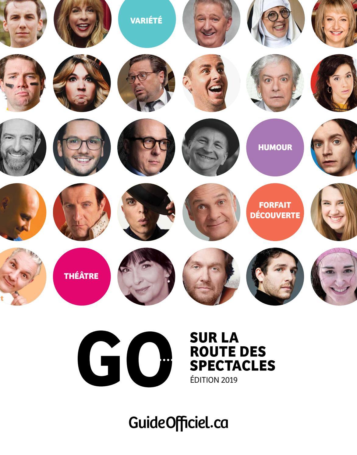 Guide Officiel - Sur La Route Des Spectacles / Édition 2019 destiné Marie Eve Morency Conjointe 2019