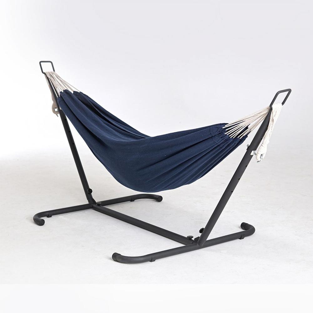 Hamac Sur Pied 2.6 M Avec Toile En Tissu Polyester Bleu à Hamac Chat Fenêtre Gifi