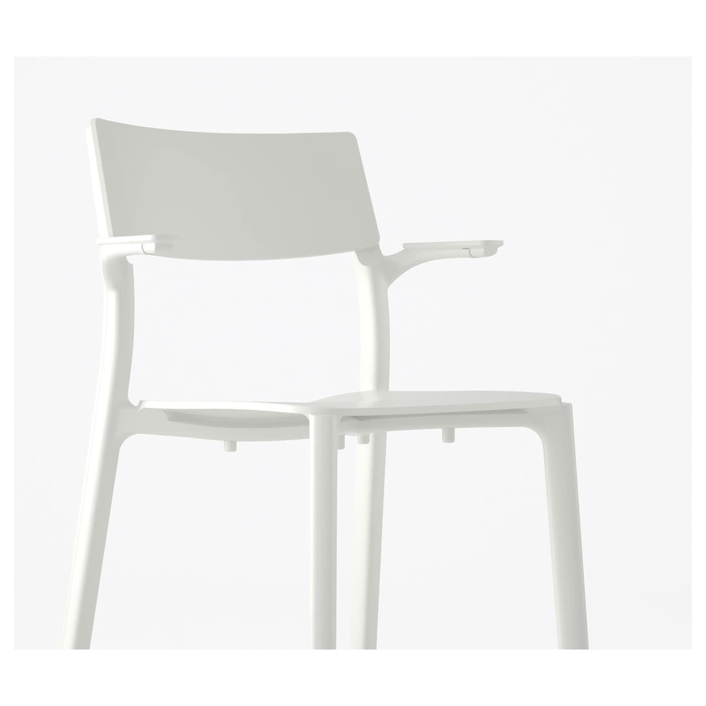 Janinge Chaise À Accoudoirs - Blanc avec Chaise Suspendue Ikea