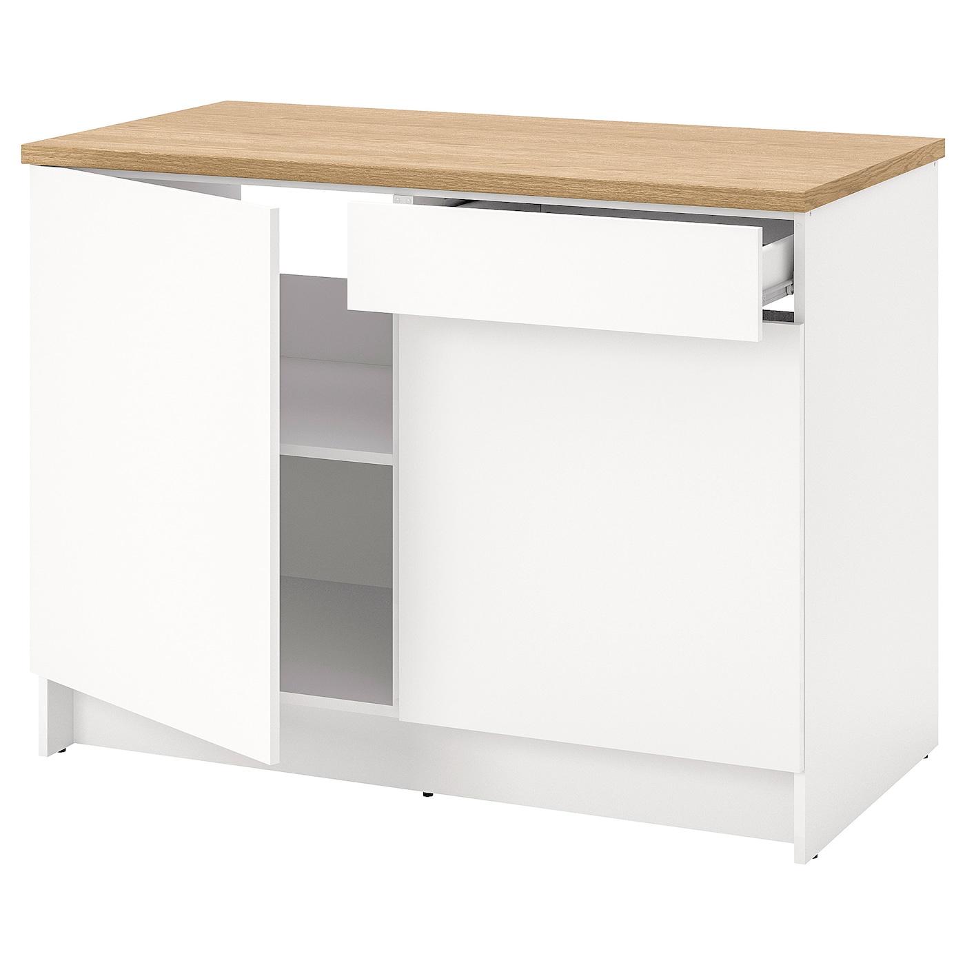 Knoxhult Élément Bas Avec Portes Et Tiroir - Blanc 120 Cm à Meuble Sous Évier 100 Cm - Ikea