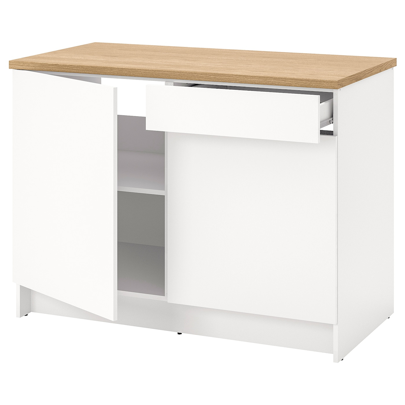 Knoxhult Élément Bas Avec Portes Et Tiroir - Blanc 120 Cm intérieur Meuble Bas Cuisine 50 Cm Largeur Ikea