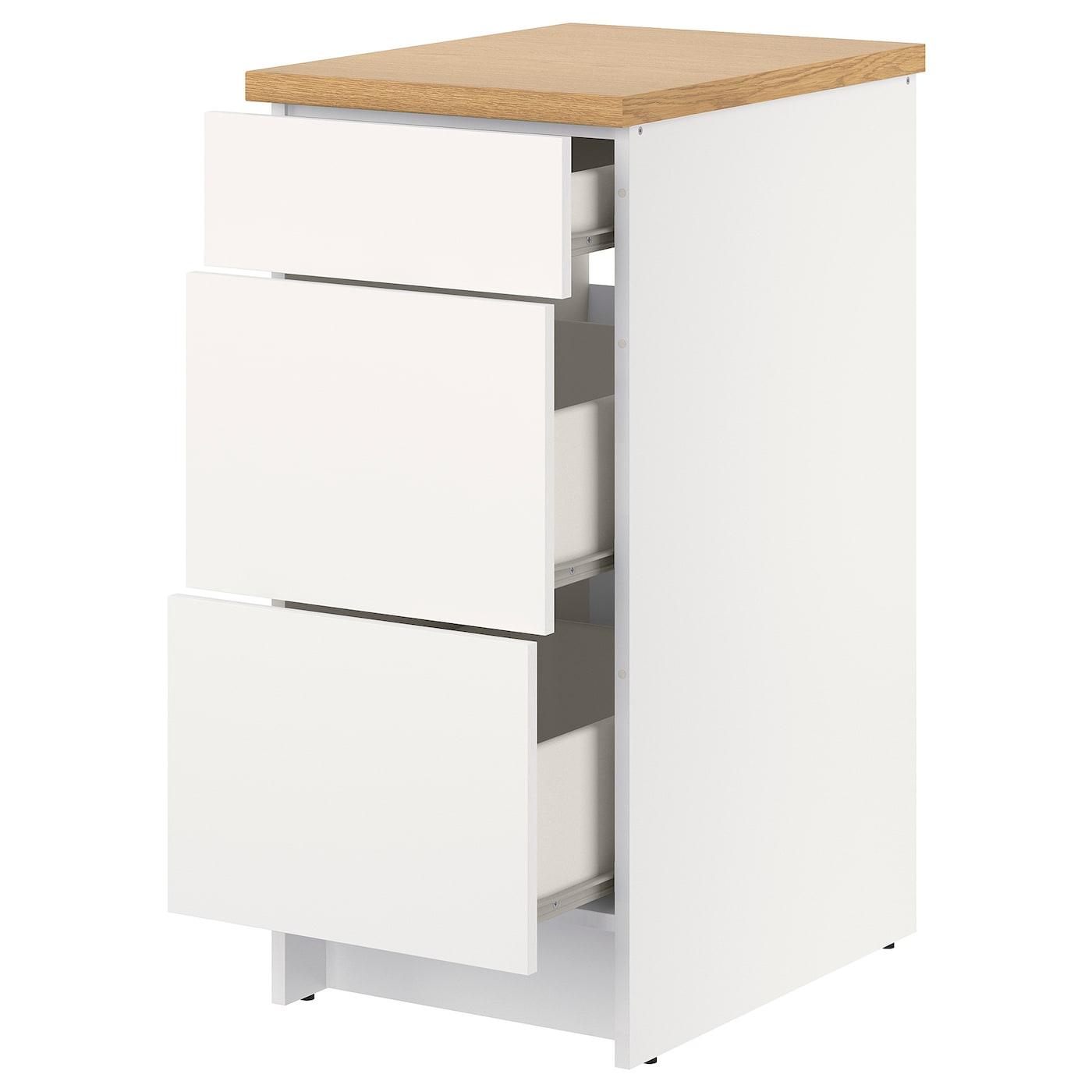 Knoxhult Élément Bas Avec Tiroirs - Blanc 40 Cm intérieur Meuble Bas Cuisine 50 Cm Largeur Ikea