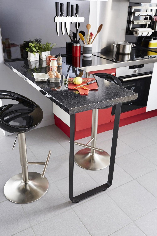 La Table En Hauteur Peut Aussi Servir De Plan De Travail à Pied Pliant Pour Table Leroy Merlin
