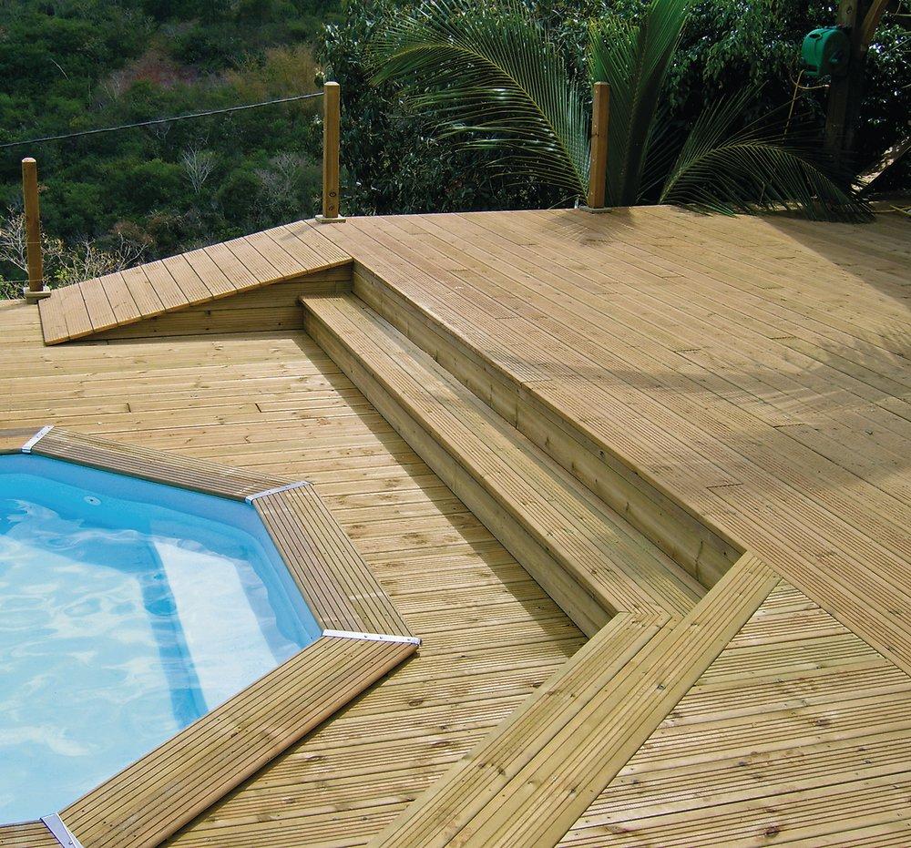 Lame De Terrasse En Pin 28 X 145 Mm X 4M pour Bricomarché Carrelage Extérieur
