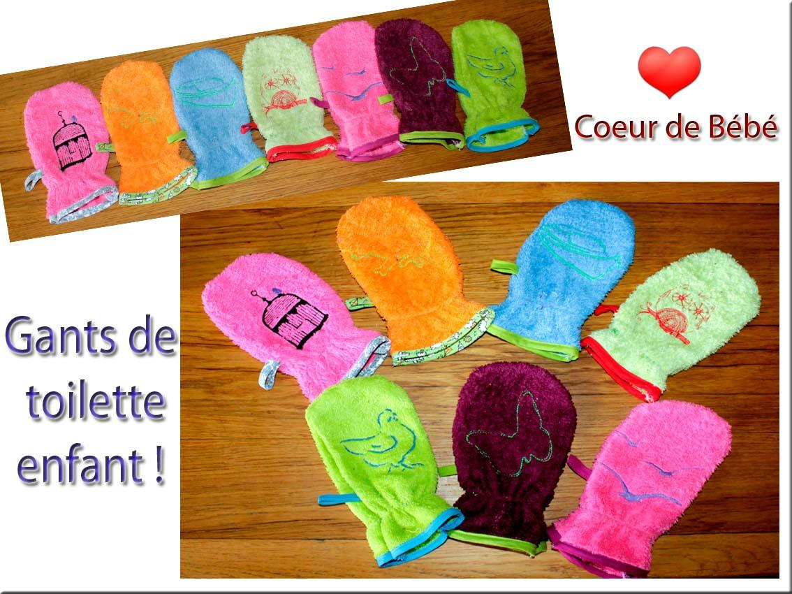 Les Gants De Toilette Enfants - Coeur De Bébé dedans Tuto Mini Gant De Toilette