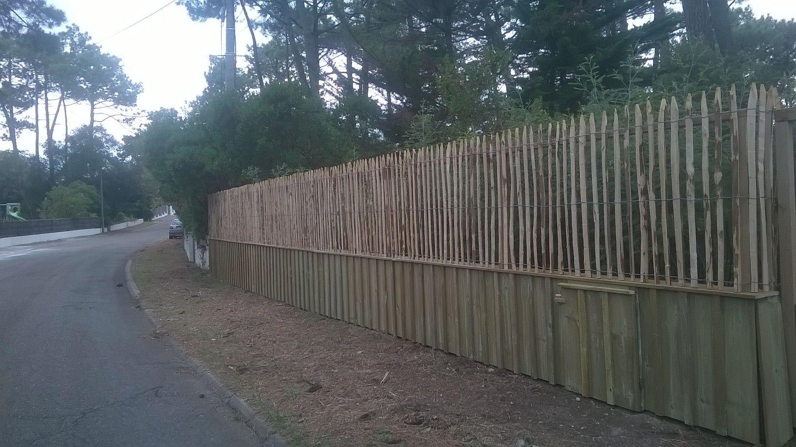 Lmf Bois À Réaliser Une Clôture Avec De La Volige + Couvre intérieur Couvre Joint Bois Castorama