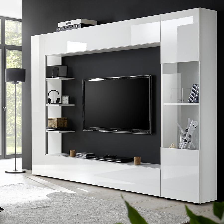 Meuble Tv Mural Laque Blanc Soprano avec Meuble Tv Mural Design Italien