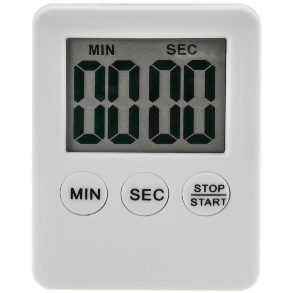 Minuteur De Cuisine Magnétique. Contrôle Du Temps Numérique Blanc encequiconcerne Minuterie Douche Leroy Merlin