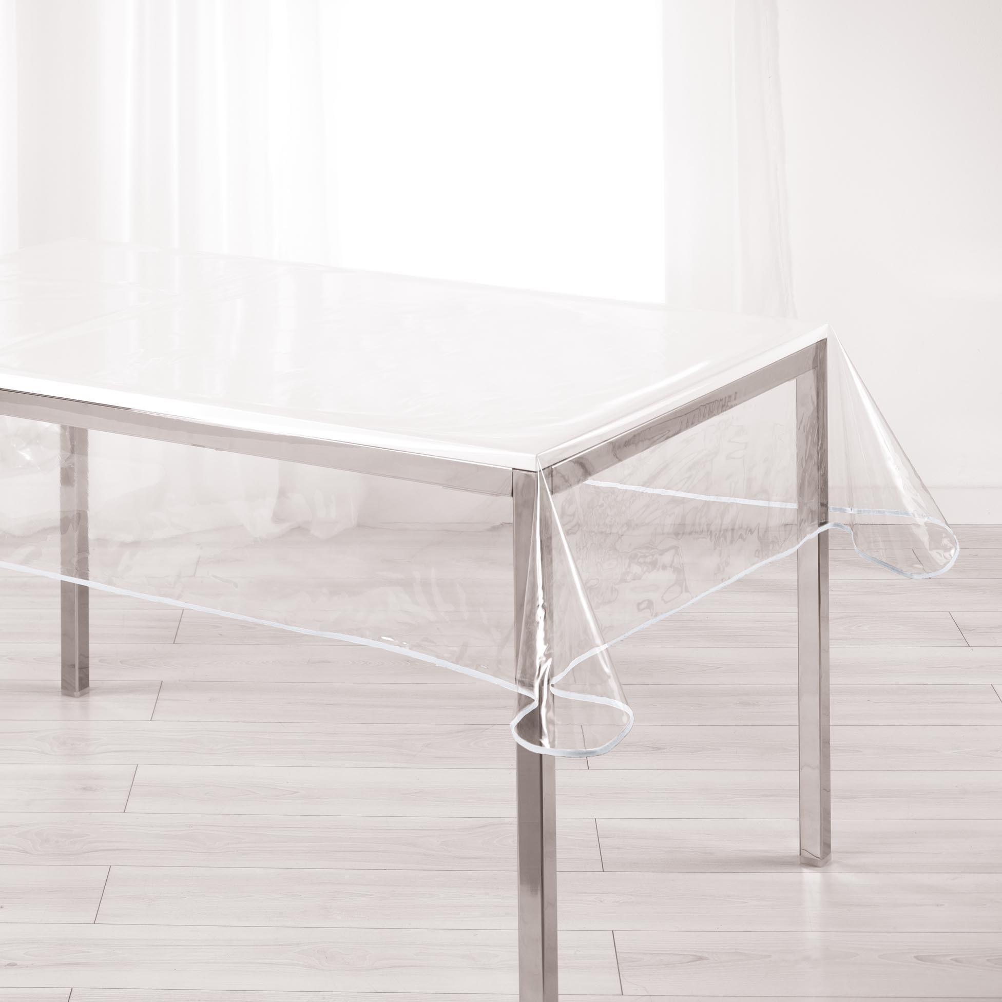 Nappe Cristal Rectangulaire Garden Transparente destiné Rouleau Nappe Papier Gifi