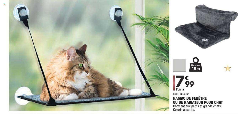 Offre Hamac De Fenêtre Ou De Radiateur Pour Chat Supercrack encequiconcerne Hamac Chat Fenêtre Gifi