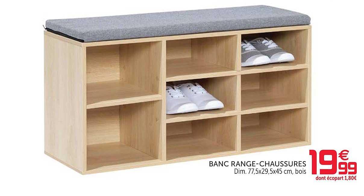 Offre Le Range Chaussures Chez Centrakor avec Range Chaussures Tissu Gifi