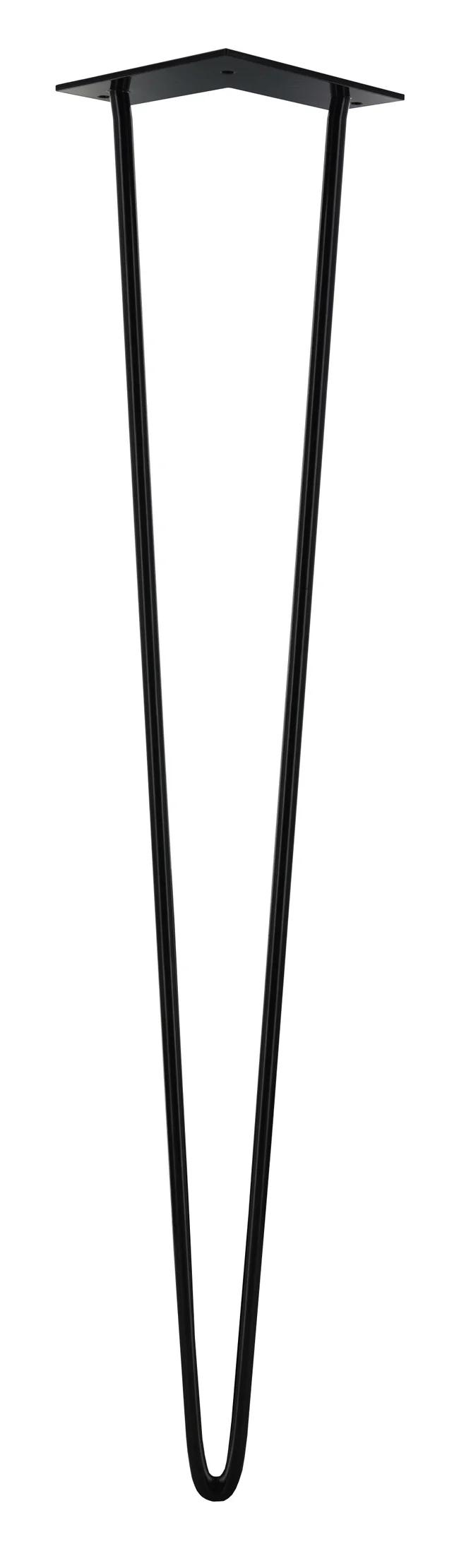 Pied De Table Design Fixe Acier Époxy Noir, 71 Cm | Leroy intérieur Pied Pliant Pour Table Leroy Merlin