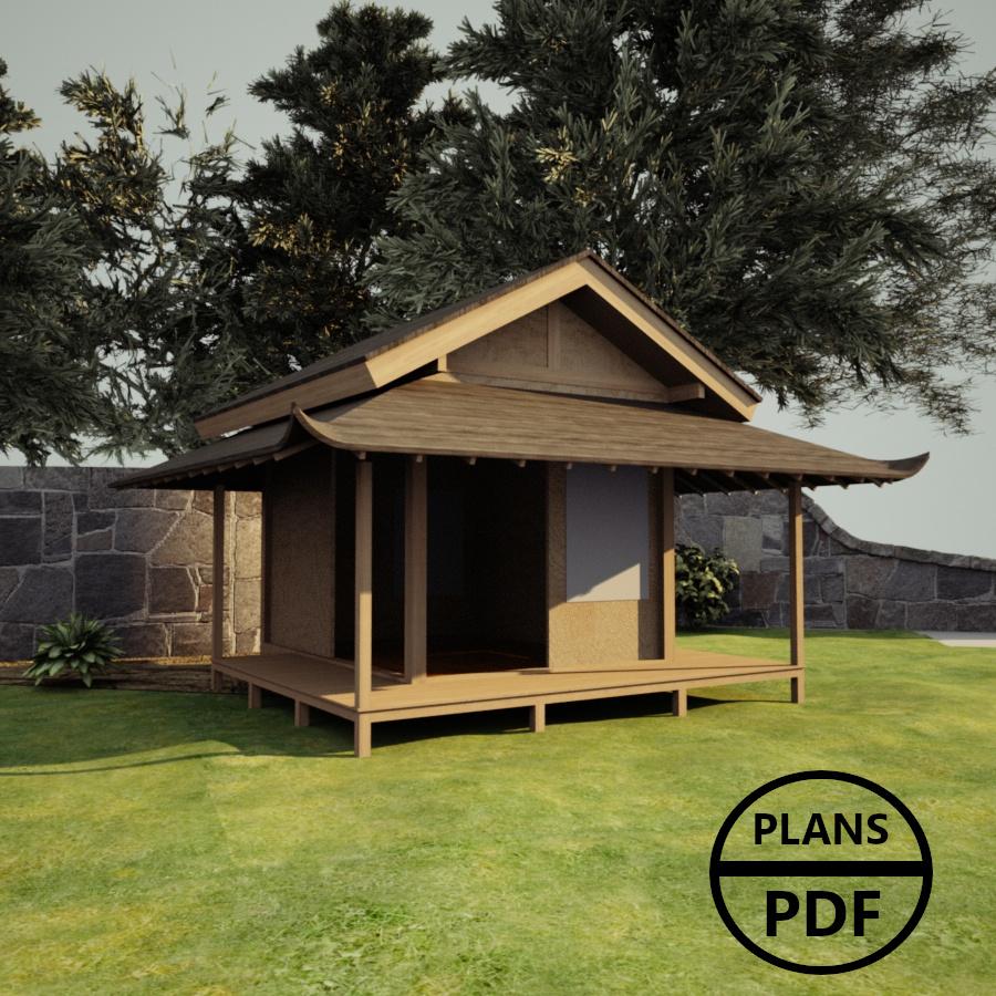 Plan Abri De Jardin En Bois : Plans En Pdf À Télécharger serapportantà Plan Cabane En Bois Pdf
