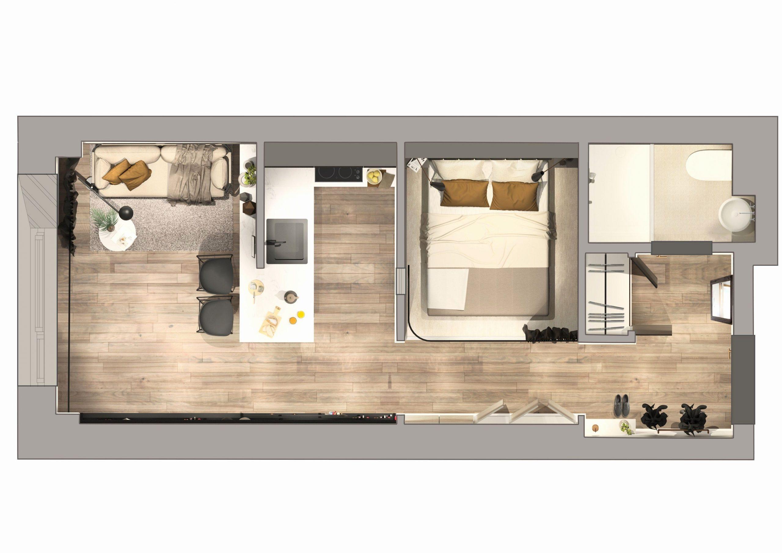 Plan Petite Maison 30M2 - Décoration Design Maison | Un pour Cuisine Salon 30M2