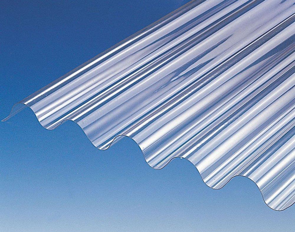 Plaque Ondulée Pvc Po 76/18 Cristal 300X90Cm destiné Plaque Pvc Transparent Brico