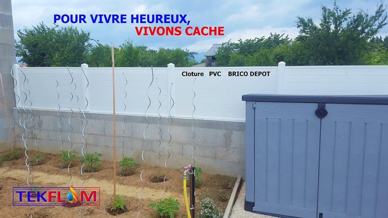 Pose Brise-Vue Pvc Blanc Brico Depot pour Clôture Pvc Brico Dépôt