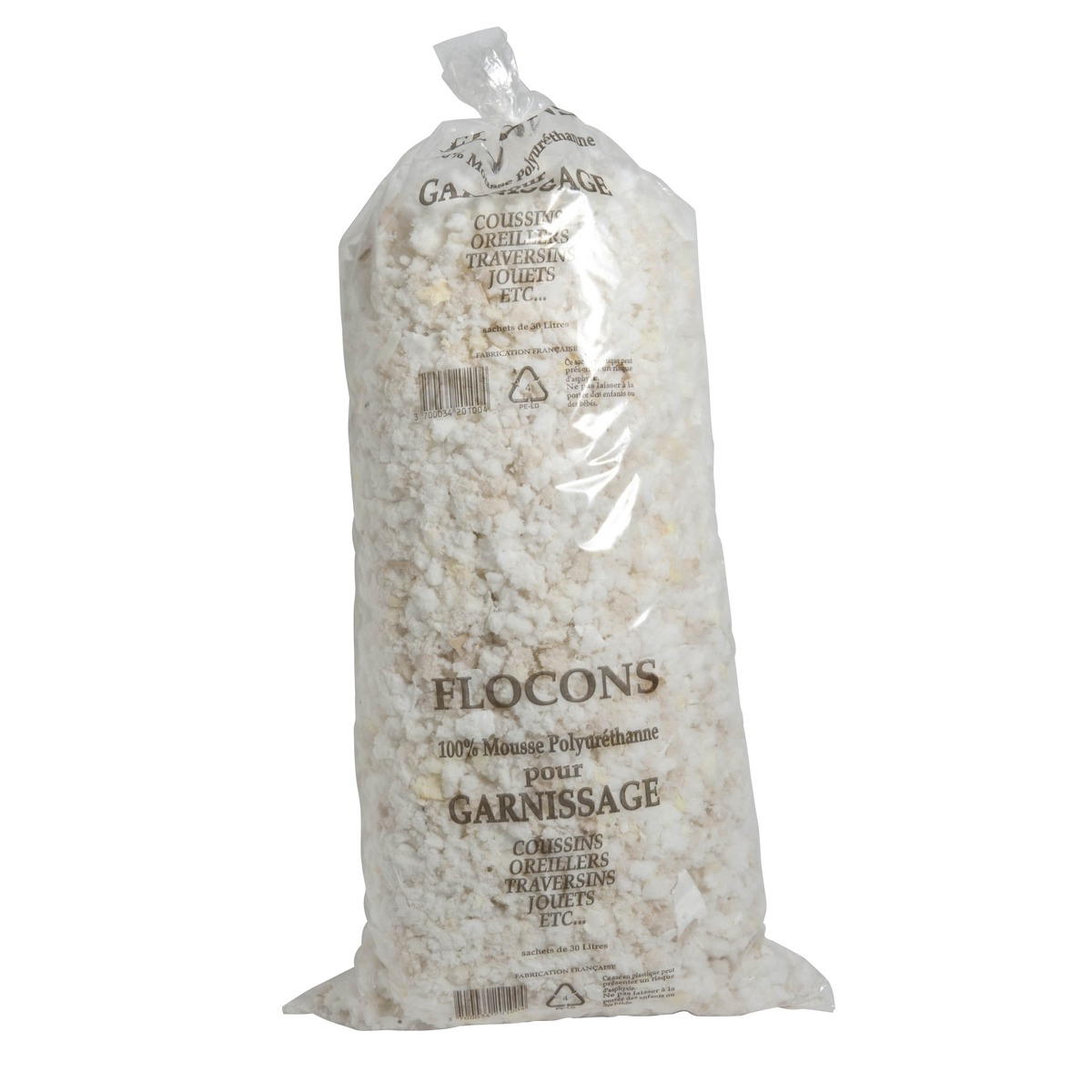 Sac De Mousse Floconnée - Pour Garnissage - 30 Litres - 100 pour Mousse Rembourrage Castorama